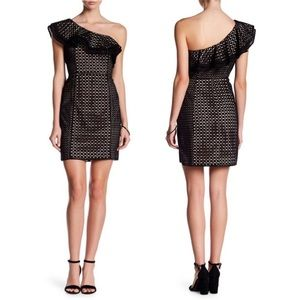 J. CREW COLLECTION Eyelet Illusion One Shoulder